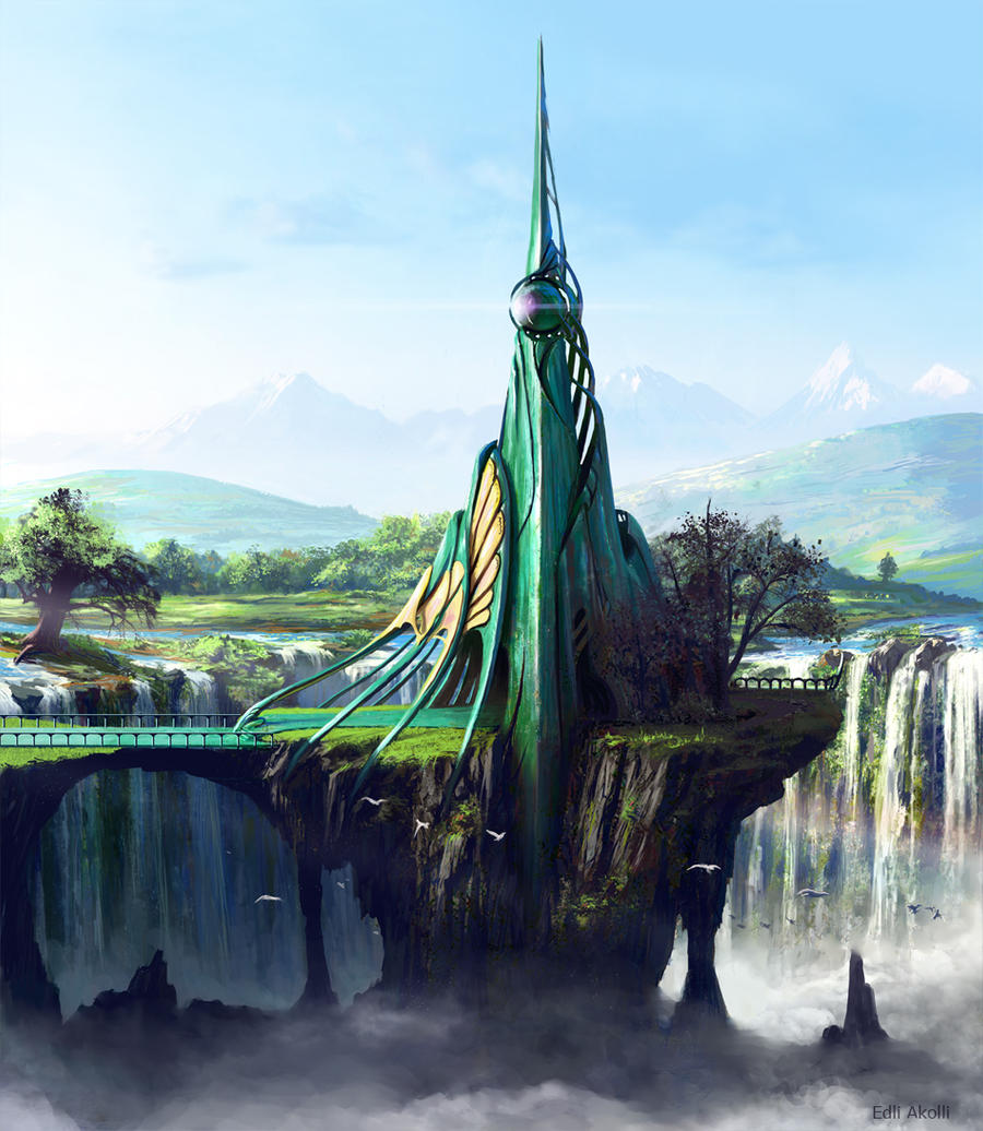 Emerald Tower by Edli