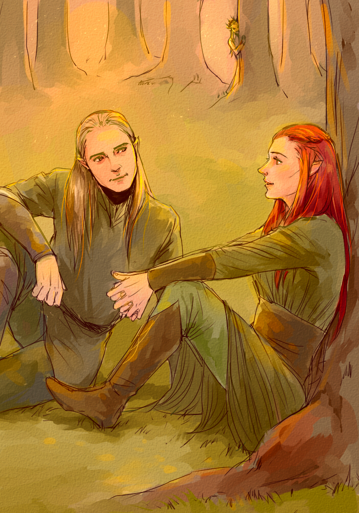 legolas, tauriel, and... by mformadness on DeviantArt
