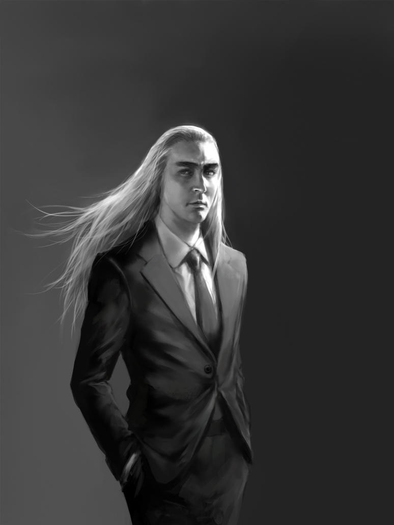 Thranduil, in a suit by mformadness