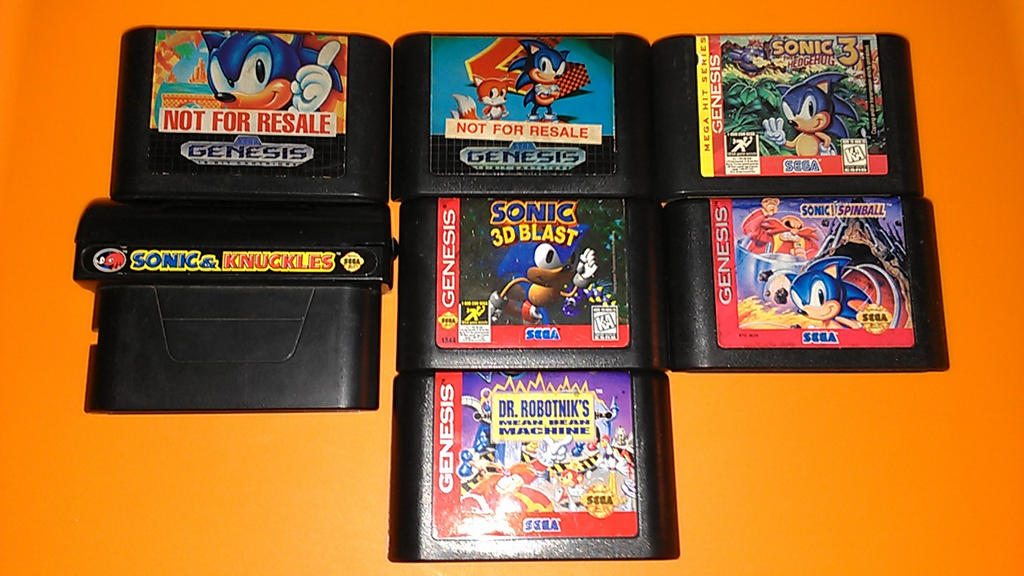 Sonic Genesis Games My collection by DmanB on DeviantArt