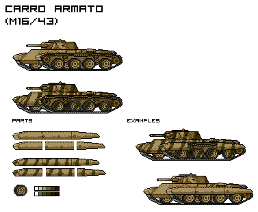 Carro Armato (M16/43) (WIP) by Kev002