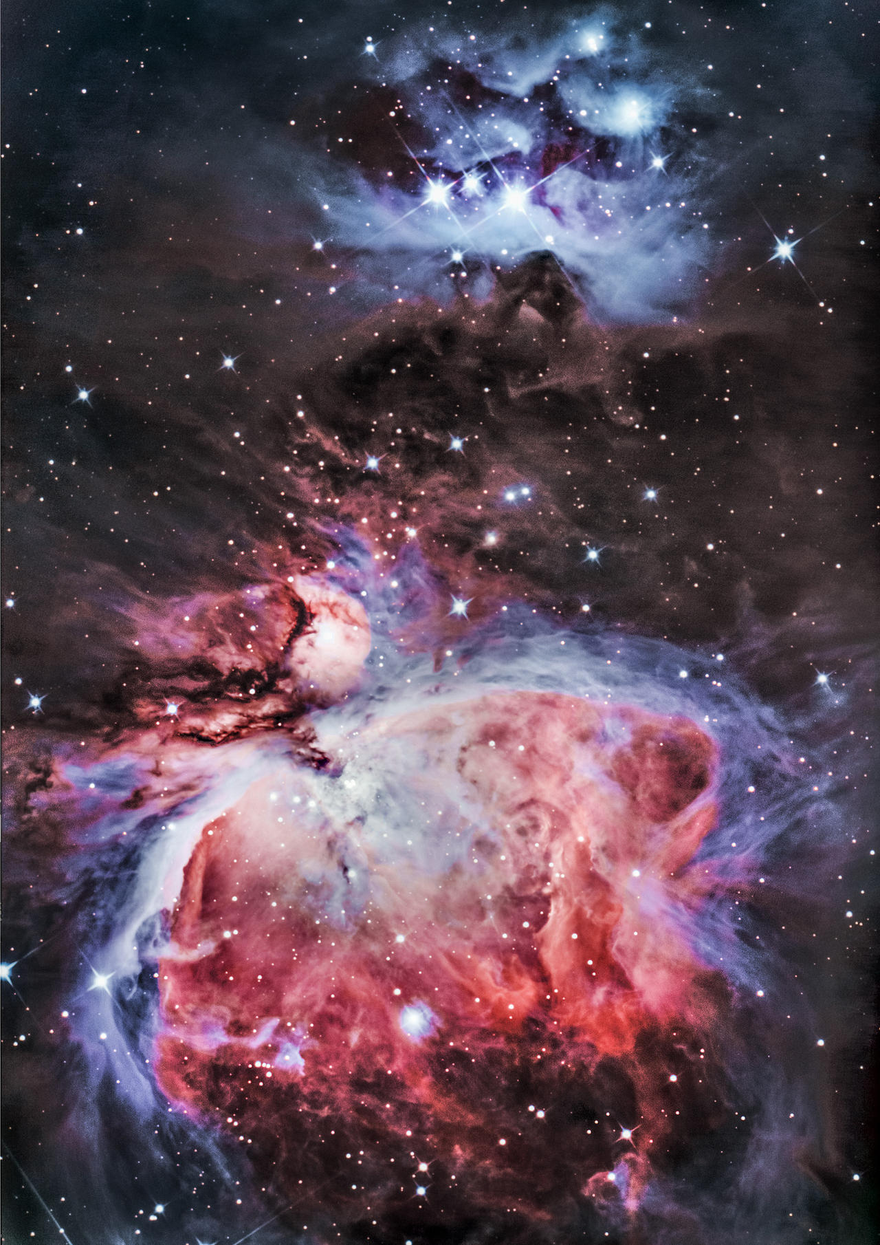The Great Orion nebula and The Running Man by Captain-Marmote