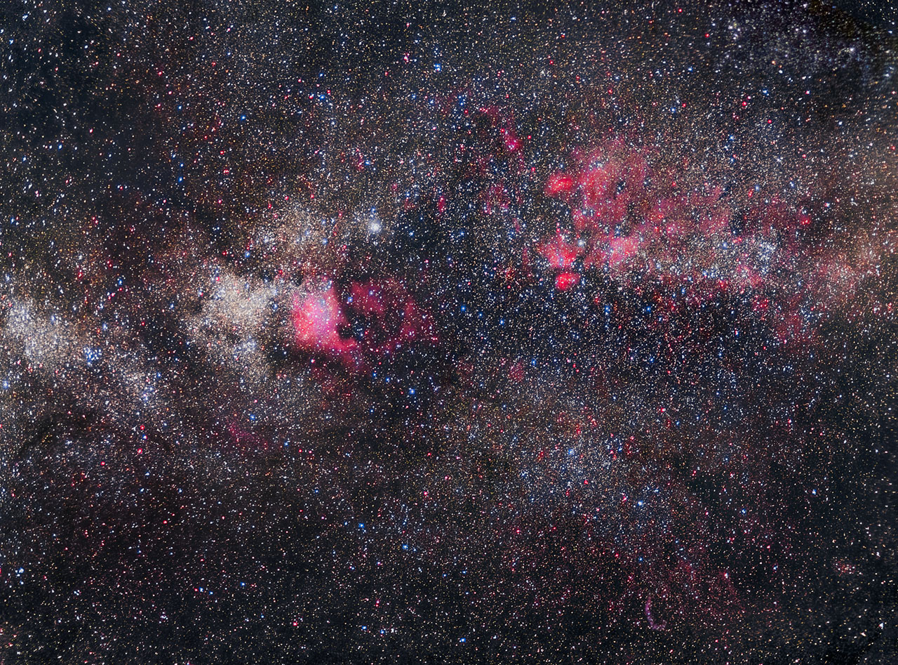 The Great Rift and Nebulae