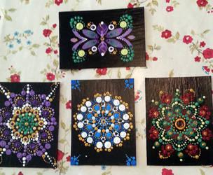 Dot Mandala ACEOs by BrigetteMora