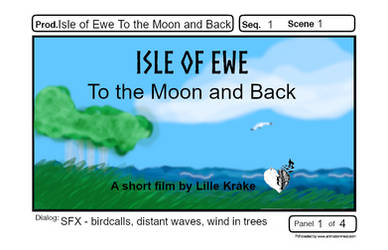 Isle of Ewe Titlecard Panel of Storyboard