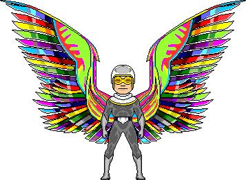 Rainbow Wings by Ghornet