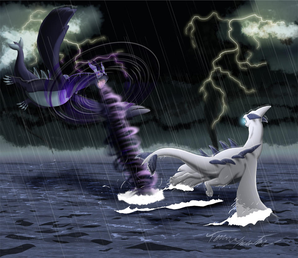 Lugia Vs Shadow Lugia The Movie Realistic Lugia vs XD0...