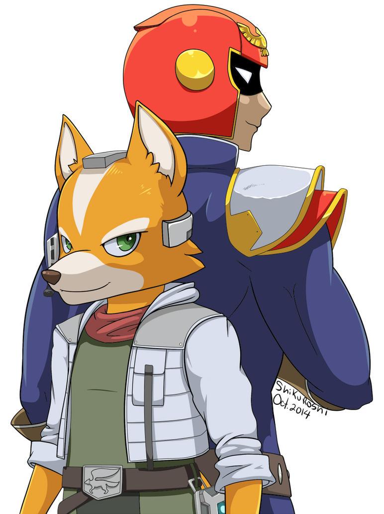 Fox and Captain Falcon by Shikuroshi