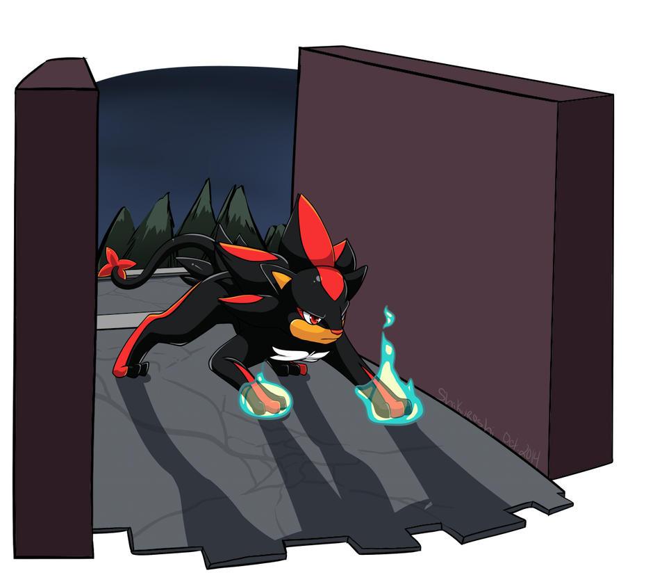 Shadow in Pokemon style by Shikuroshi