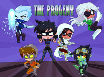 Commission Chibi Hero Team Progeny! by Z-Graves