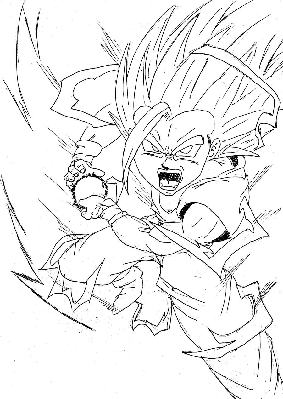 SSJ 2 Teen Gohan Kamehameha by DragonballDrawer on DeviantArt