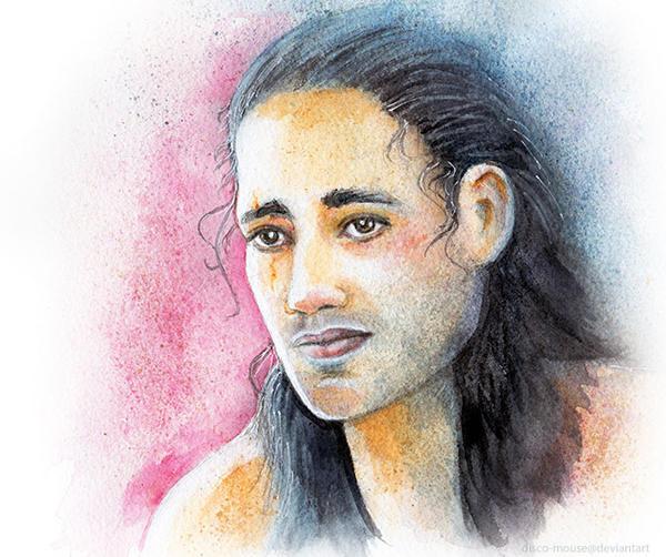 Pana Hema Taylor as Spartacus Nasir Watercolor