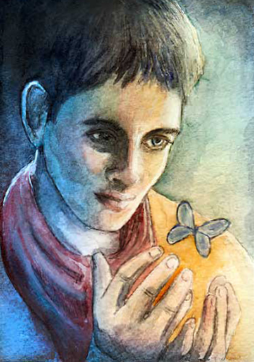 Merlin makes a butterfly