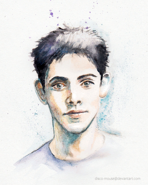 Colin Morgan Watercolor