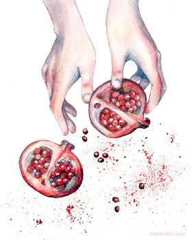 Pomegranate Watercolor