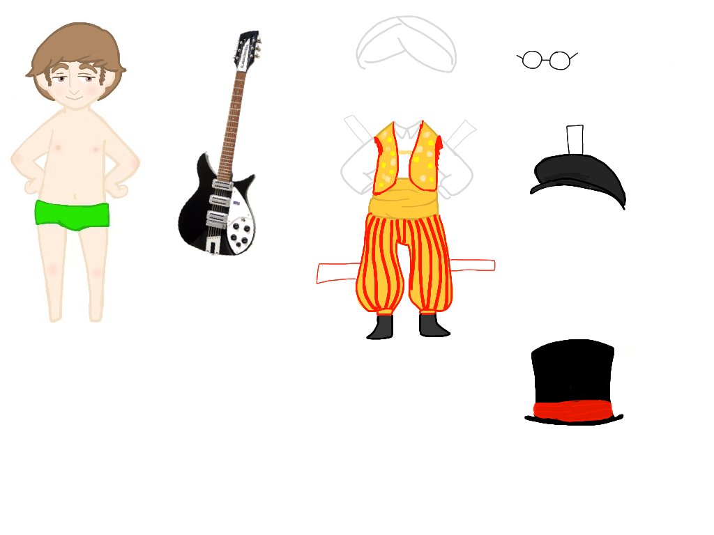 John paper doll accessories by greengal14 on DeviantArt