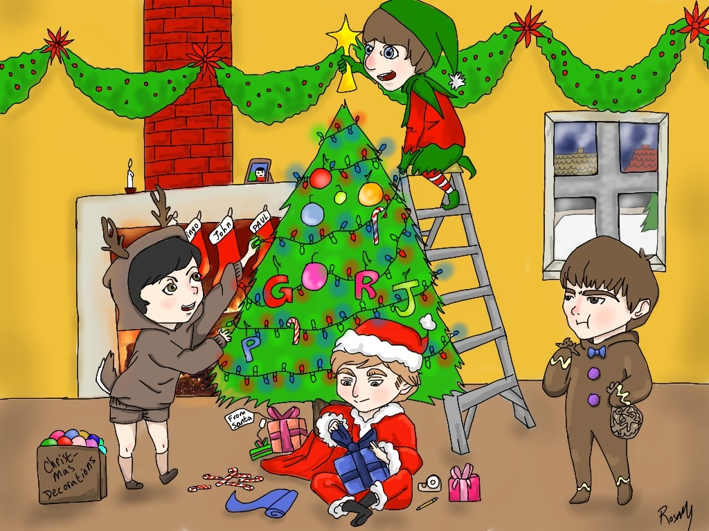 Beatles Christmas - color by greengal14 on DeviantArt
