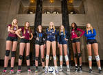 Looking up at college volleyball goddesses