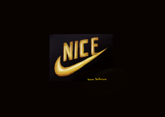 official low quality poorly drawn nice logo by luca