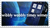 Wibbly Wobbly Timey Wimey Tardis Stamp by TECHNlCOLOURED