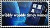 Wibbly Wobbly Timey Wimey Tardis Stamp by TECHNlCOLOURED