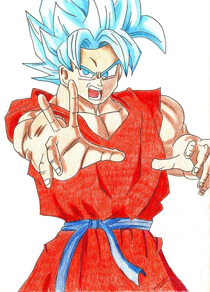 Goku SSJ Blue by KeVasFul