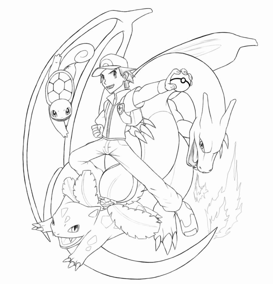 pokemon trainer coloring pages - photo#22