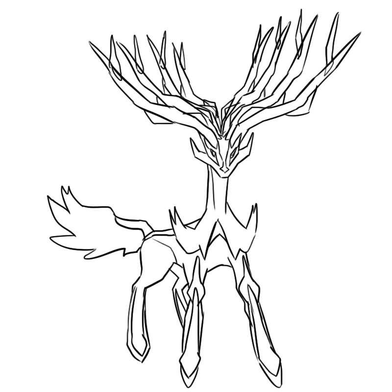 Pokemon Coloring Pages Xerneas : Pokemon xerneas coloring images