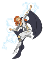 Commission - Thunder Woman (Norse) by pyrasterran