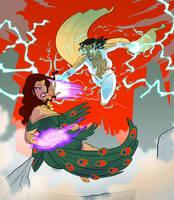 Commission - Thunder Woman vs Hera by pyrasterran