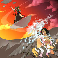 Commission - Thunder Woman vs Vastatrix by pyrasterran