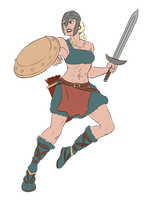 Commission - Dara the Warrior by pyrasterran