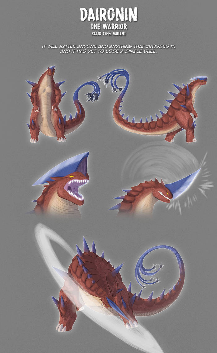 Kaiju Adoptables 01 Daironin [SOLD] by pyrasterran