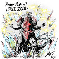 Kaiju Monster March 07 - Space Godzilla by pyrasterran