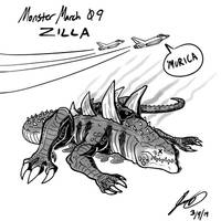 Kaiju Monster March 09 - Zilla by pyrasterran