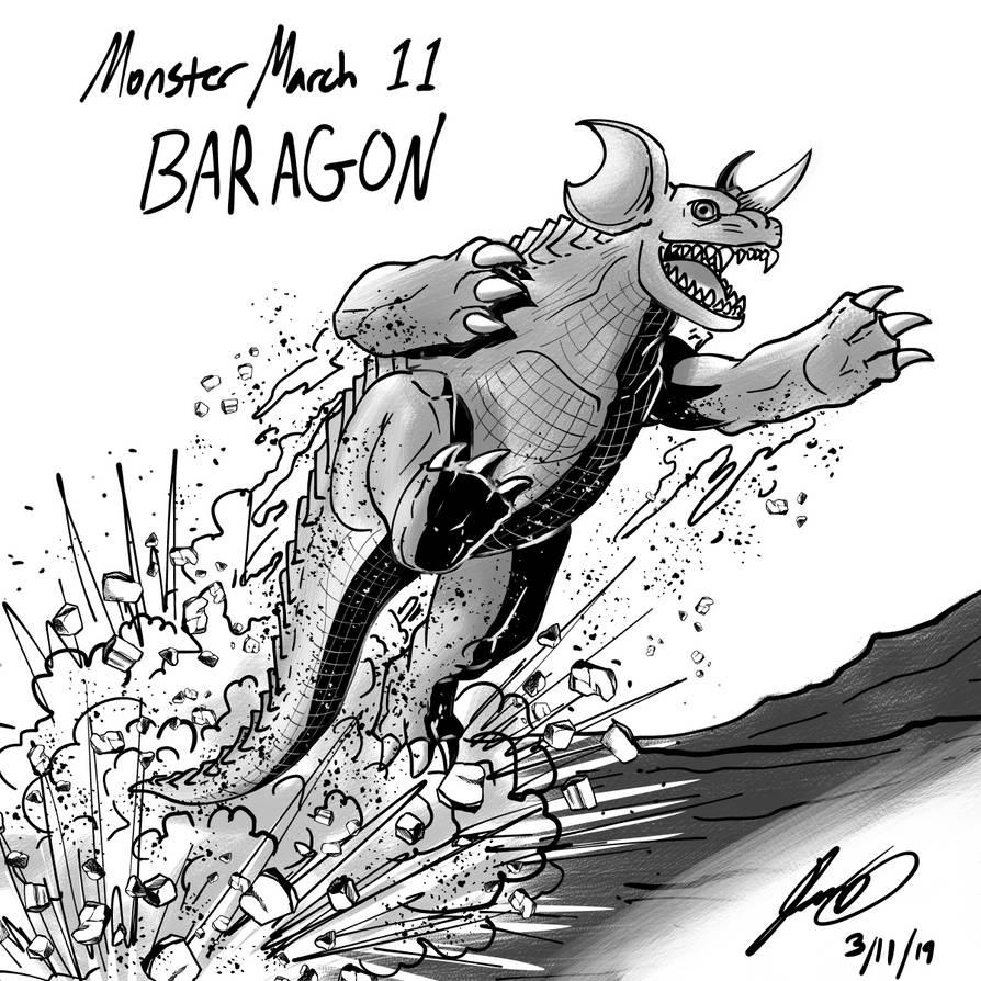 Kaiju Monster March 11 - Baragon by pyrasterran
