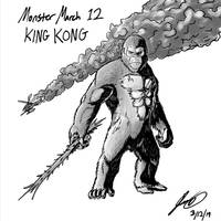 Kaiju Monster March 12 - King Kong by pyrasterran
