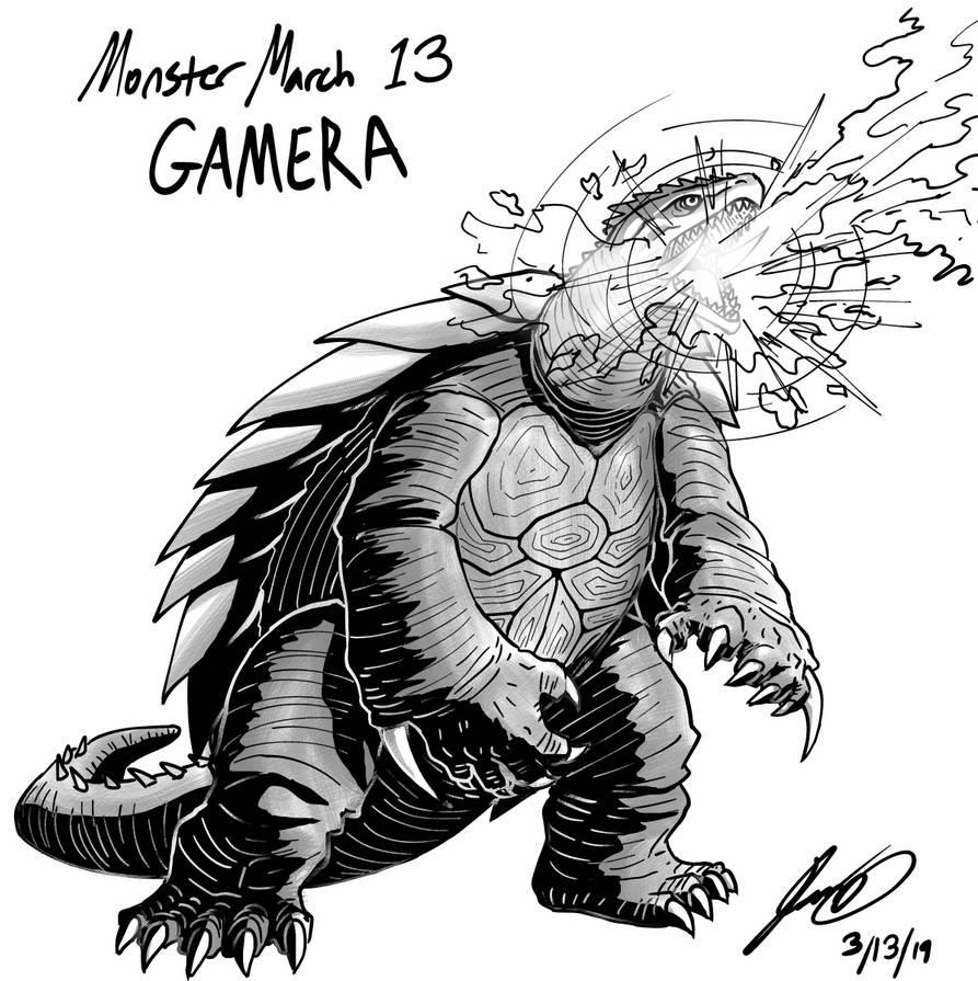 Kaiju Monster March 13 - Gamera by pyrasterran
