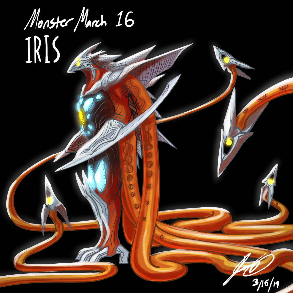 Kaiju Monster March 16 - Iris by pyrasterran