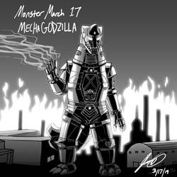 Kaiju Monster March 17 - MechaGodzilla by pyrasterran