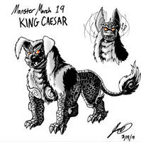 Kaiju Monster March 19 - King Caesar by pyrasterran