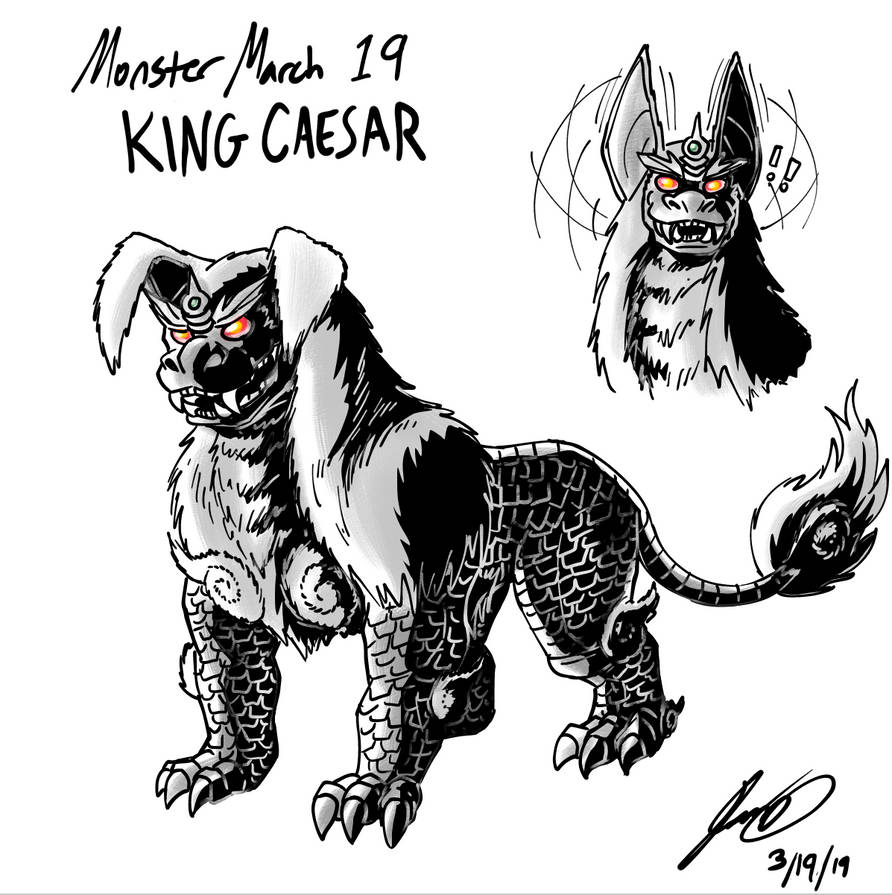 Kaiju Monster March 19 - King Caesar by pyrasterran