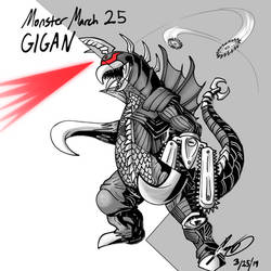 Kaiju Monster March 25 - Gigan by pyrasterran