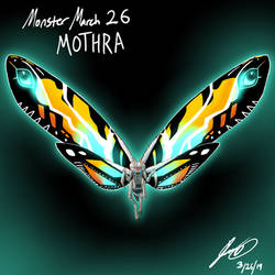 Kaiju Monster March 26 - Mothra by pyrasterran