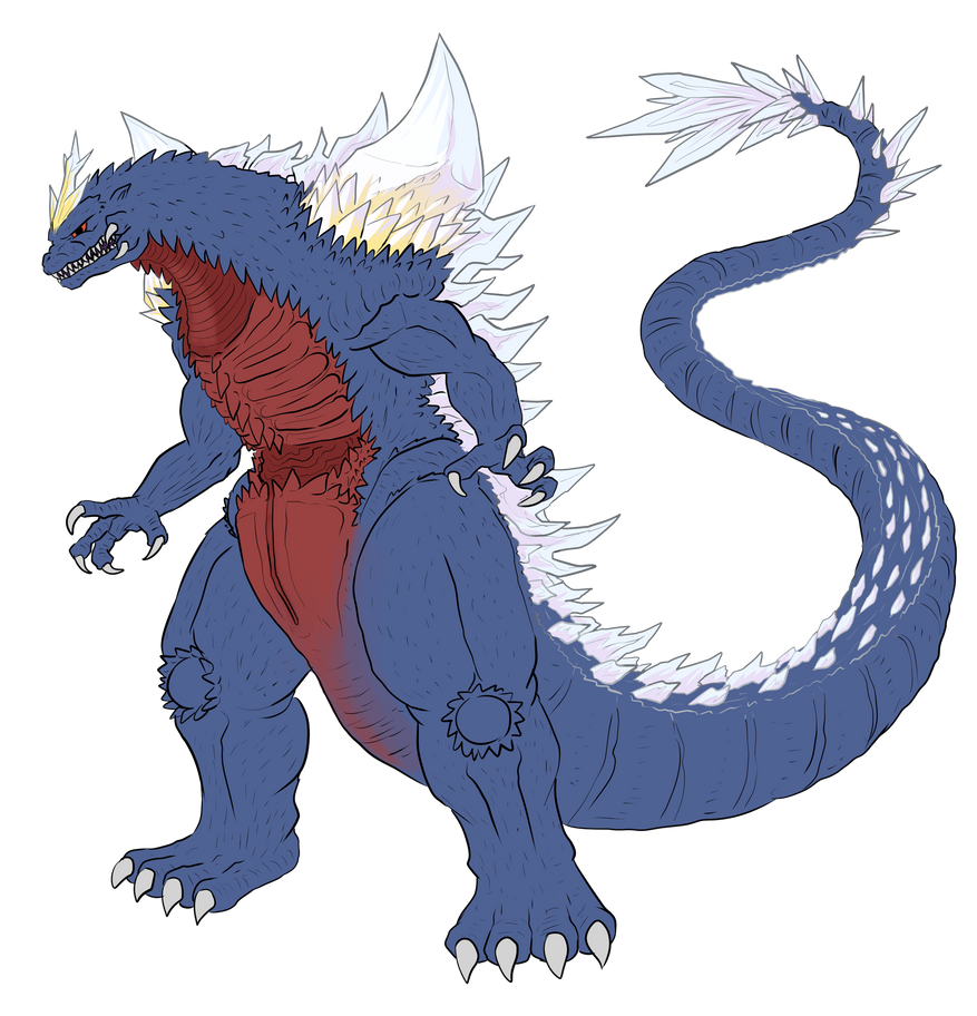 Commission - X SpaceGodzilla by pyrasterran