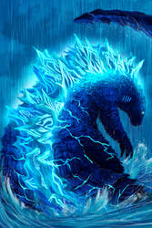 Godzilla: King of the Monsters: Water by pyrasterran