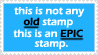 this is not any old stamp. by FlipFlopFly