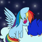 Baby Sonic and Rainbow Dash  by wolfdizz108