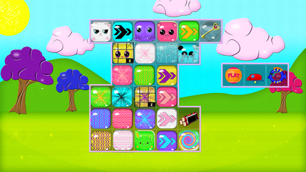 Cute animal match 3 game pack