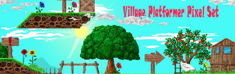 Village Platformer Pixel Set